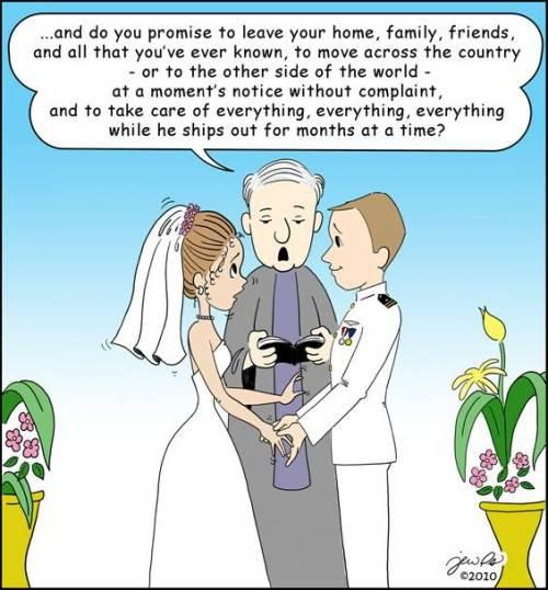 Military Marriage Cartoon