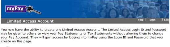 MyPay.gov Limited Access Account advantages in Military ... Mypay
