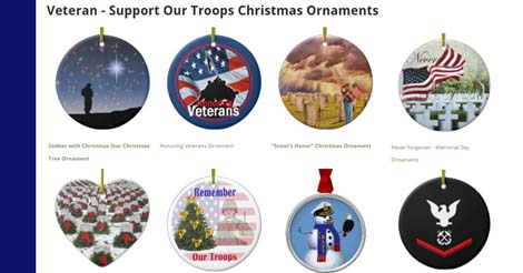 Patriotic Military Christmas Ornaments: Customize Text or ...